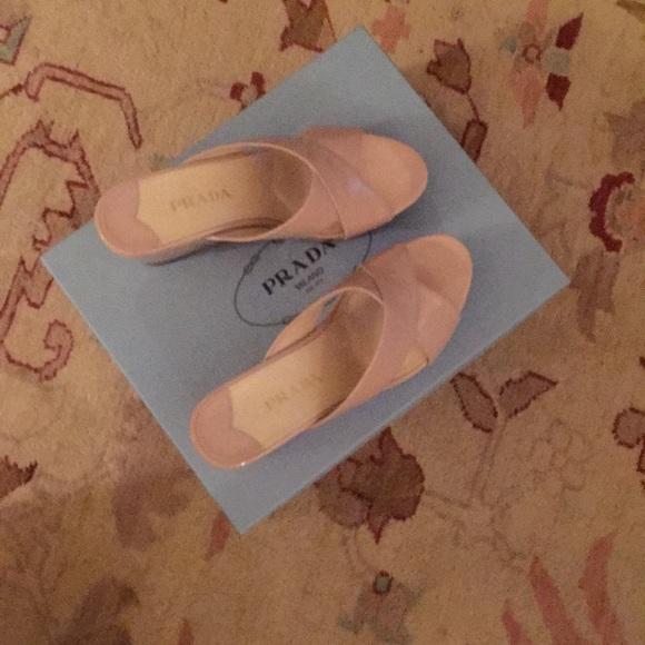 Prada Shoes - Prada Wedge Slide